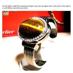 100 % Real vintage TIGER eye watch REAL VINTAGE